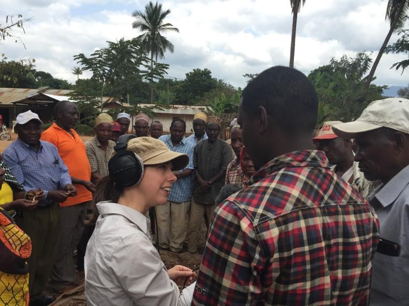 Anna interviewing smallholder farmers in Tanzania
