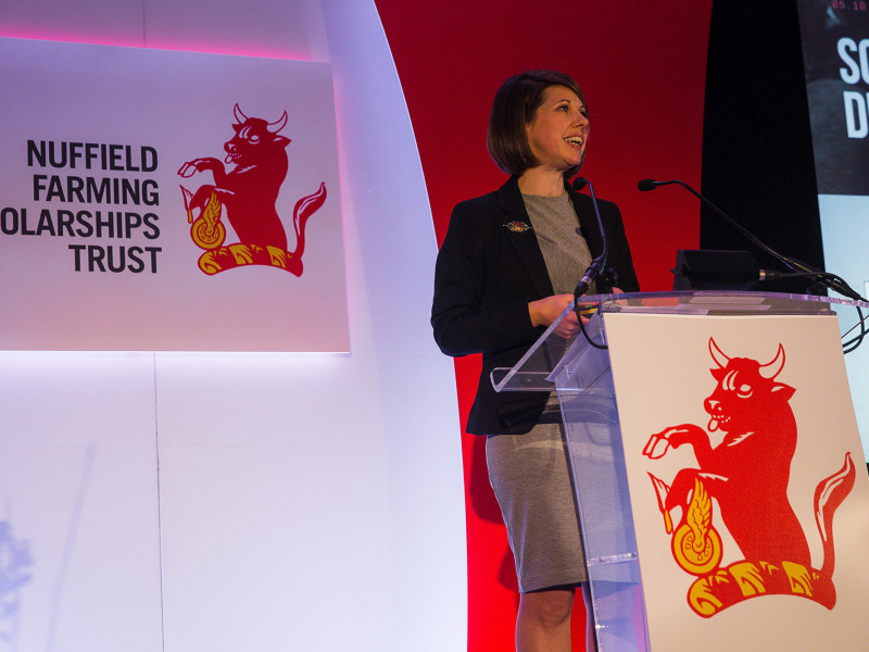 Anna speaking at the Nuffield Farming Conference
